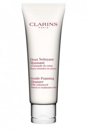 Очищающий пенящийся крем с экстрактом хлопка Doux Nettoyant Clarins. Цвет: бесцветный