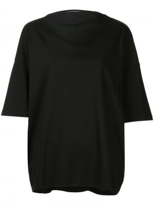 Свободная футболка 08Sircus. Цвет: чёрный
