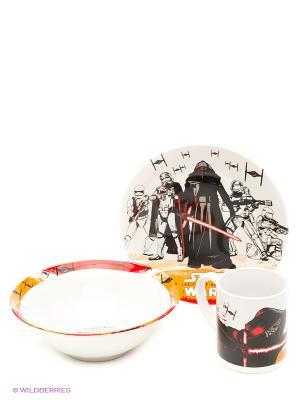 Набор посуды керамической в подарочной упаковке (3 предмета). Звёздные войны Эпизод 7 Stor. Цвет: белый, черный, красный
