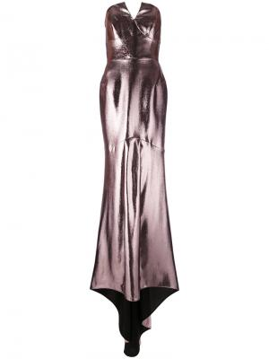 Вечернее платье с эффектом металлик Roland Mouret. Цвет: многоцветный