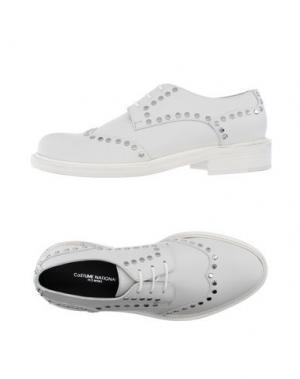 Обувь на шнурках COSTUME NATIONAL HOMME. Цвет: белый