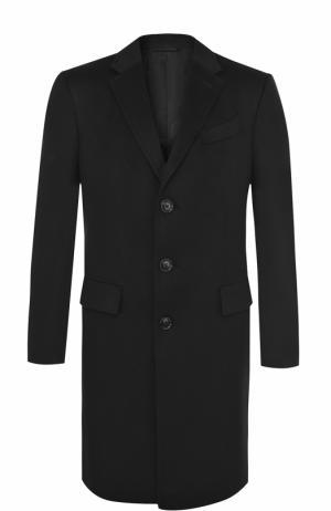 Однобортное кашемировое пальто с отложным воротником Ermenegildo Zegna. Цвет: черный