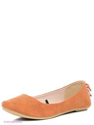Балетки CentrShoes. Цвет: светло-коричневый, оранжевый, розовый