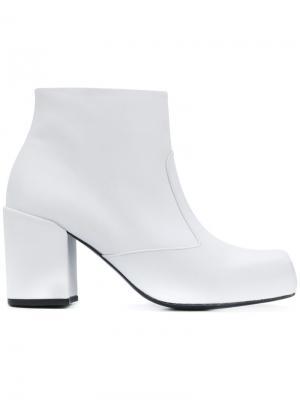 Ботильоны с квадратным носком Bianca Aalto. Цвет: белый