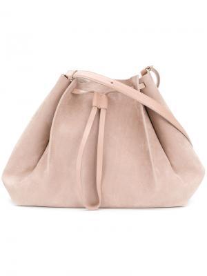Маленькая структурированная сумка-тоут Maison Margiela. Цвет: телесный