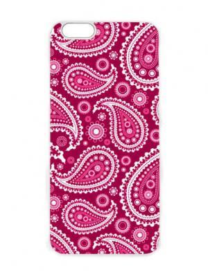 Чехол для iPhone 6 Малиновый пейсли Chocopony. Цвет: малиновый, бледно-розовый, темно-красный