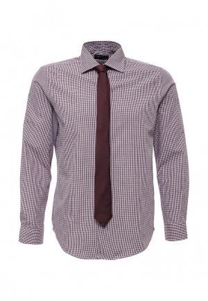 Рубашка Piazza Italia. Цвет: бордовый