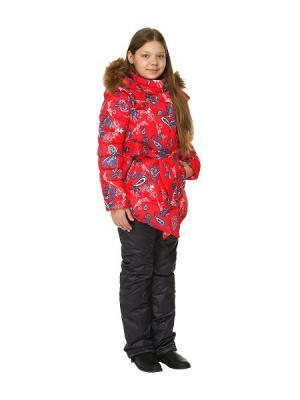 Куртка+брюки для девочек TOPKLAER. Цвет: красный