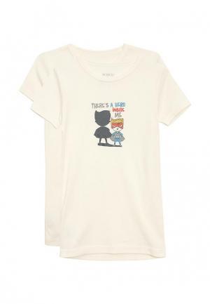 Комплект футболок 2 шт. Boboli. Цвет: белый