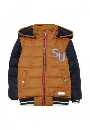 Куртка утепленная s.Oliver. Цвет: коричневый