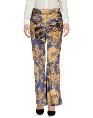 Повседневные брюки KONTATTO. Цвет: темно-синий