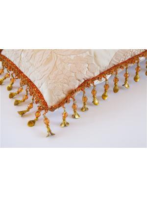 Декоративная подушка ручной работы, 25х56. La Pastel. Цвет: молочный, бледно-розовый, золотистый
