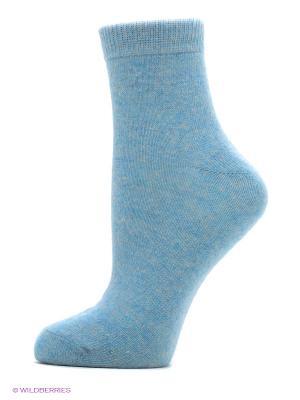 Носки женские теплые Burlesco. Цвет: голубой