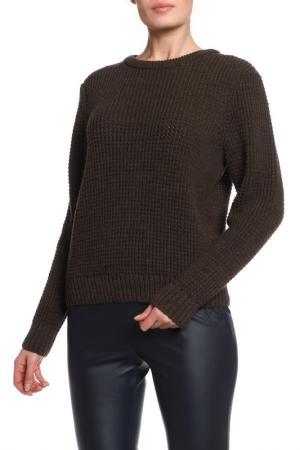 Полуприлегающий свитер с крупной вязкой MAYBAE. Цвет: коричневый