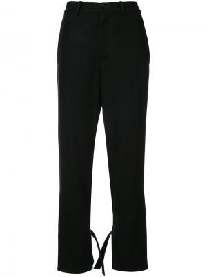 Расклешенные брюки с завязками Yohji Yamamoto. Цвет: чёрный