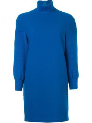 Платье с высокой горловиной Comme Des Garçons Vintage. Цвет: синий