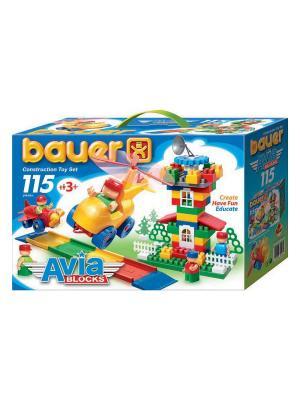 Конструктор Bauer серии Avia 115 эл. (в коробке) 16/16. Цвет: голубой