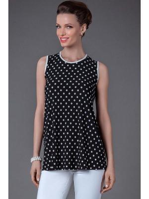 Блуза Арт-Деко. Цвет: черный