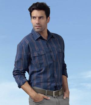 Рубашка из Хлопка AFM. Цвет: в-клетку