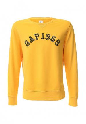 Свитшот Gap. Цвет: желтый
