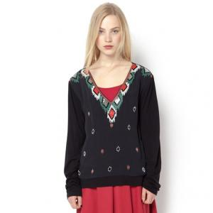Блузка с длинными рукавами RENE DERHY. Цвет: черный