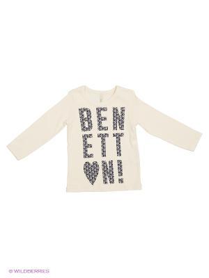 Лонгслив United Colors of Benetton. Цвет: кремовый, серый, темно-серый