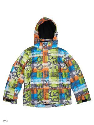 Куртка High Experience. Цвет: светло-зеленый, светло-оранжевый, серый