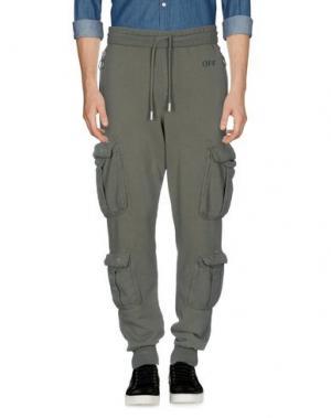 Повседневные брюки OFF-WHITE™. Цвет: зеленый-милитари