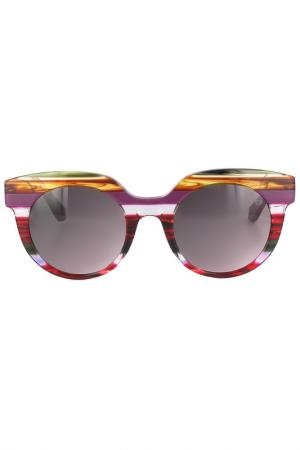 Очки солнцезащитные Byblos. Цвет: розовый, мультиколор