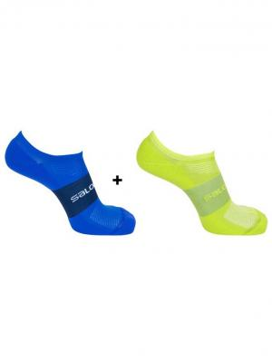 Носки SONIC VIBRATION Dress Blue/Black SALOMON. Цвет: синий, желтый