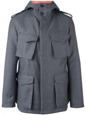 Multi-pocket hooded jacket Wooster + Lardini. Цвет: серый
