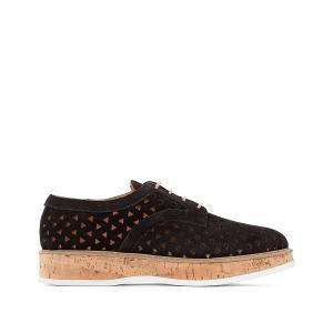 Ботинки-дерби кожаные на платформе, Malou JONAK. Цвет: черный