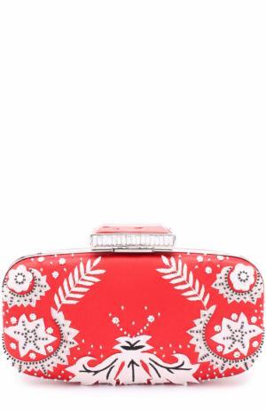 Клатч Goa с вышивкой Oscar de la Renta. Цвет: красный