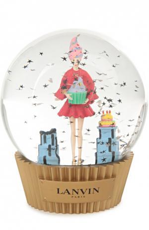 Стеклянный шар на подставке с фигурой внутри Lanvin. Цвет: разноцветный
