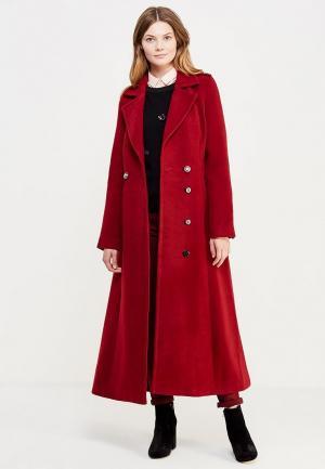 Пальто Grand Style. Цвет: бордовый