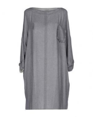 Короткое платье GOLD CASE. Цвет: светло-серый