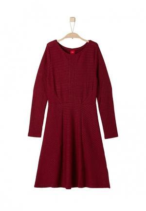 Платье s.Oliver. Цвет: бордовый