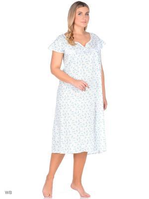 Ночная сорочка Magwear. Цвет: белый, зеленый