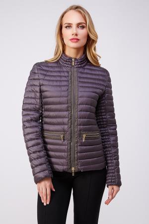 Короткая женская куртка на пуху Diego M. Цвет: серый