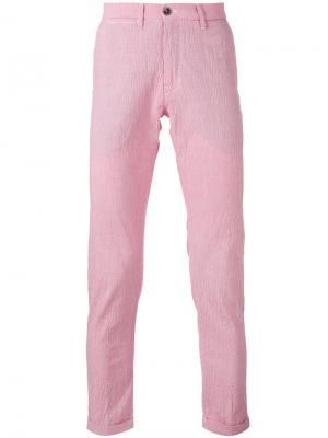 Чиносы в тонкую полоску Re-Hash. Цвет: розовый и фиолетовый