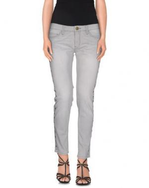 Джинсовые брюки SHINE. Цвет: светло-серый