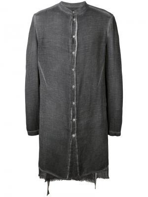 Приталенная рубашка Tom Rebl. Цвет: серый