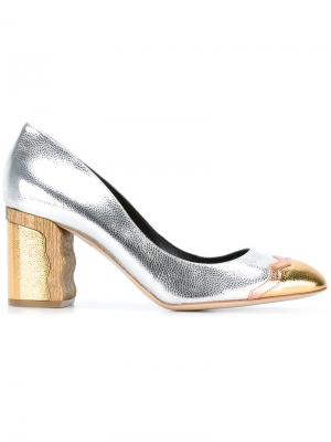 Двухцветные туфли Rupert Sanderson. Цвет: металлический
