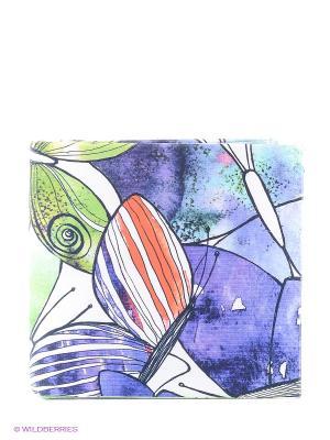 Кошелек Акварельные бабочки Mitya Veselkov. Цвет: сливовый