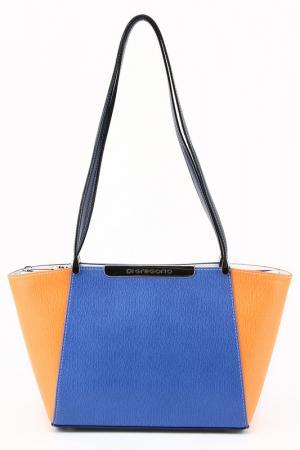 Сумка Di Gregorio. Цвет: синий, оранжевый