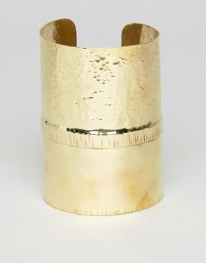 Made Браслет-манжета. Цвет: золотой