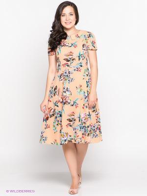 Платье Alego. Цвет: персиковый