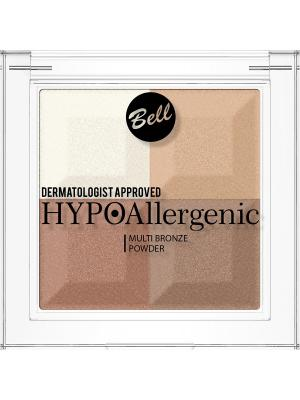 Bell Hypoallergenic пудра с бронзирующим и осветляющим эффектом Multi Bronze Powder Тон 01. Цвет: молочный