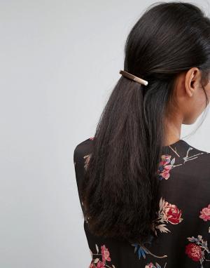 Orelia Заколка для волос с планкой. Цвет: золотой