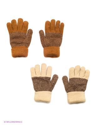 Перчатки, 2 пары FOMAS. Цвет: коричневый, рыжий, бежевый